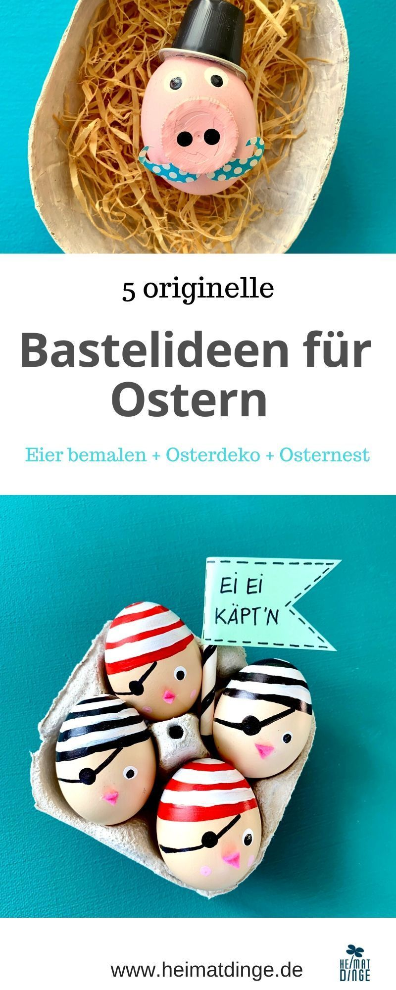 Ostern: 5 lustige Bastelideen für Kinder. Ob Ostereier bemalen, Osterkörbchen und Osternester basteln, Osterdeko selber machen oder Geschenke selber basteln, es ist für jeden etwas dabei. Osterbasteleien mit kindern dürfen in der Osterzeit nicht fehlen. Bunt, lustig, originell und einfach müssen sie sein. Upcycling Ideen dürfen dabei natürlich auch nicht fehlen. Eine tolle Auswahl an Bastelideen für Ostern findest du hier. #ostern#basteln#ostereier#kinder#upcycling#bemalen