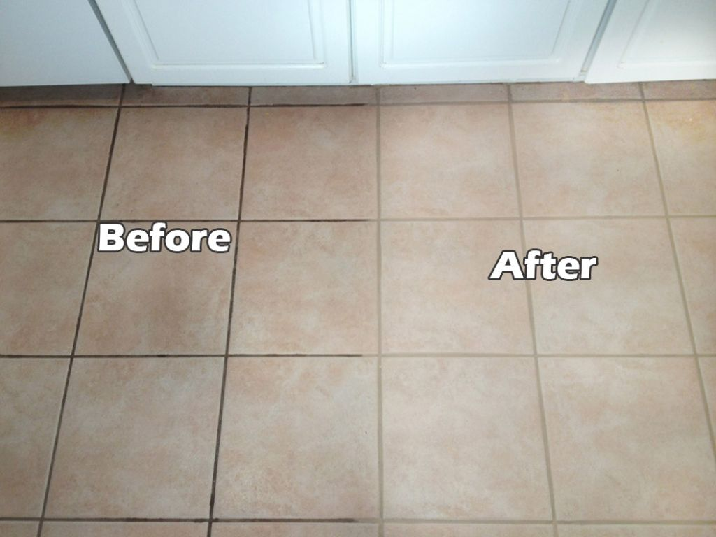 Her Grout Was Grimy And Gross So She Used This Household Product To Clean It I Had No Clue Cleaning Ceramic Tiles Grout Cleaner Cleaning Bathroom Tiles