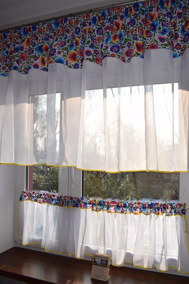 Gotowa Firana Lowicz Komplet Kuchnia Karn 1 5 1 8 7284880347 Oficjalne Archiwum Allegro Decor Home Decor Curtains