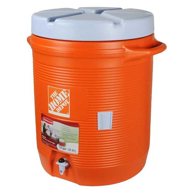 The Home Depot 10 Gal Orange Water Cooler Fg1610hdoran The Home Depot Orange Water Water Coolers Rubbermaid