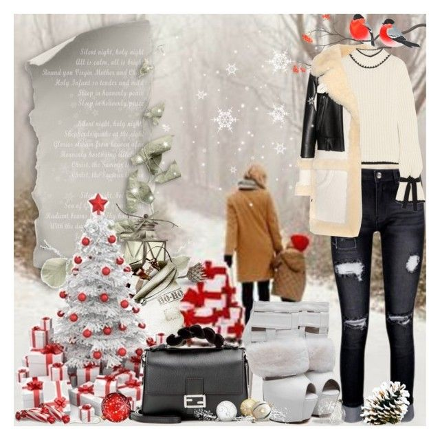 """""""Sweater Weather"""" by lucky-ruby ❤ liked on Polyvore featuring Coach, J.W. Anderson, WithChic, Fendi and wintersweater"""