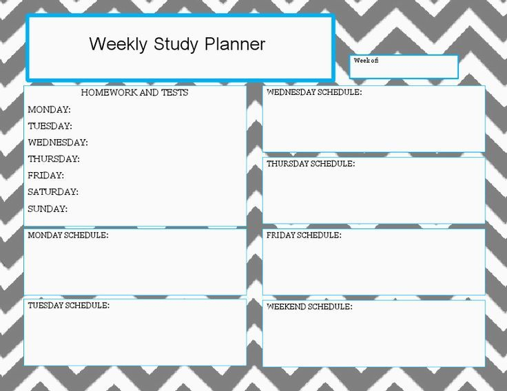 weekly study planner docx drive great while girl Study Planner