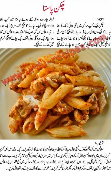 Chicken Pasta Recipe In Urdu