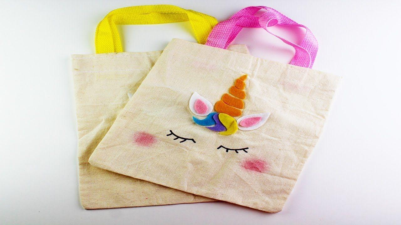 f1767e416 como hacer bolsas de unicornio para dulces/dulceros de tela | BOLSOS ...
