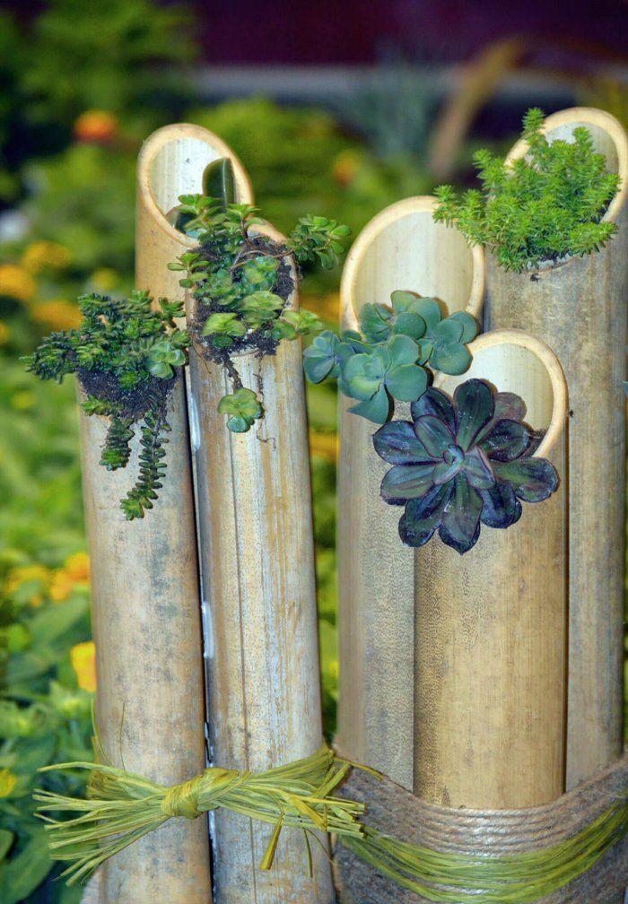 blumentopfe fur den garten, bambus deko - ein exotisches flair für den garten!, Design ideen