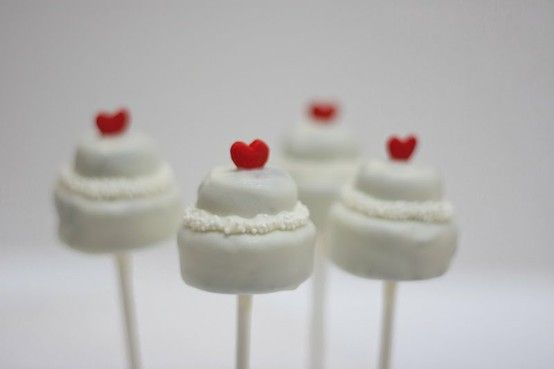 Wedding Cake Cake Pops:)