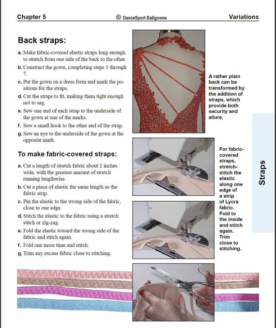 Ballgown Construction Manual Sewing Guide: How by DanceSportSewing ...