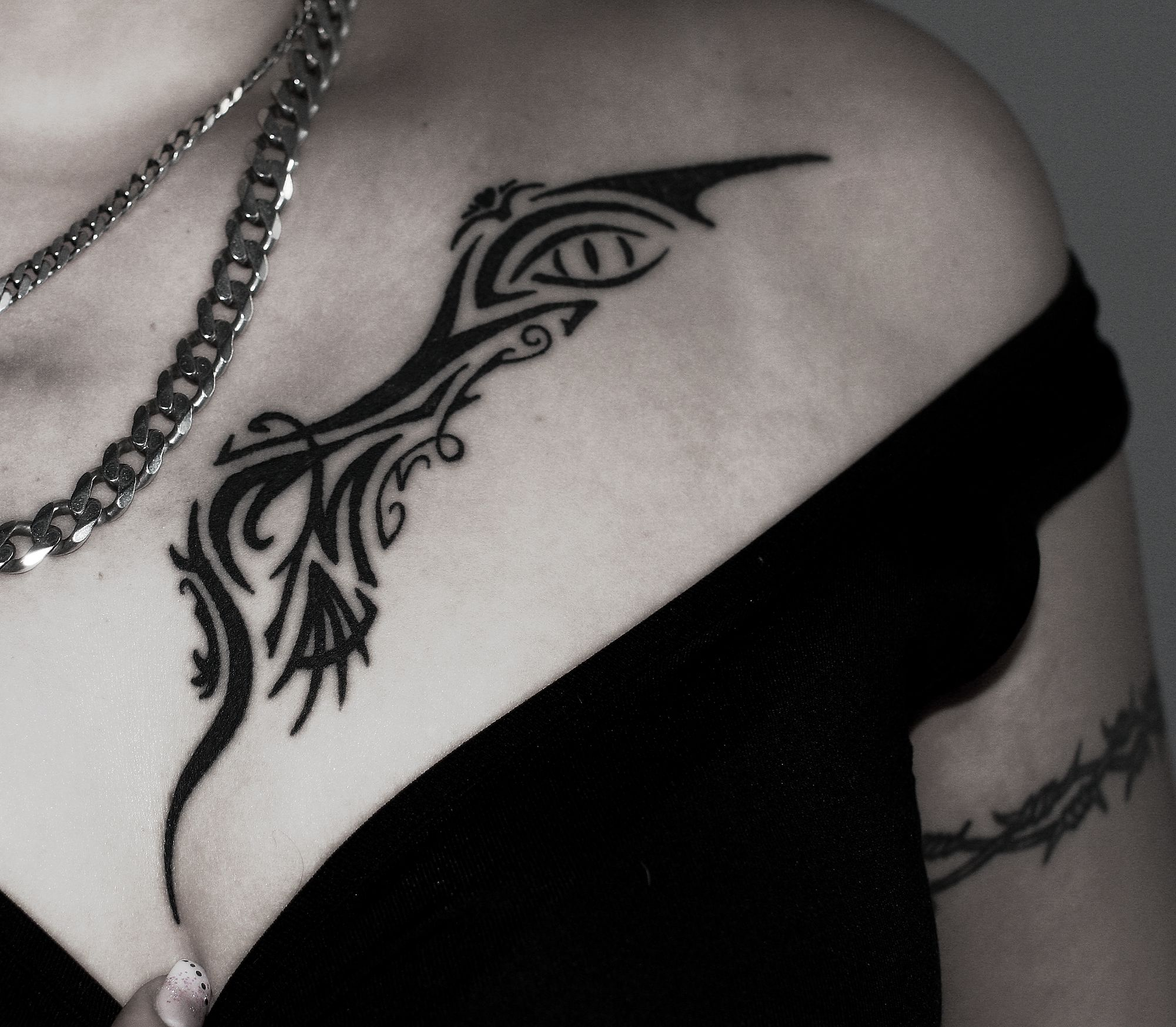 Tribal Chest Tattoos For Women Tribal Tattoos For Women Tribal Tattoos Chest Tattoos For Women