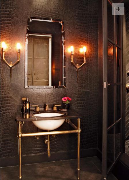 Powder Room by Shelley Gordon Interior Design. I love