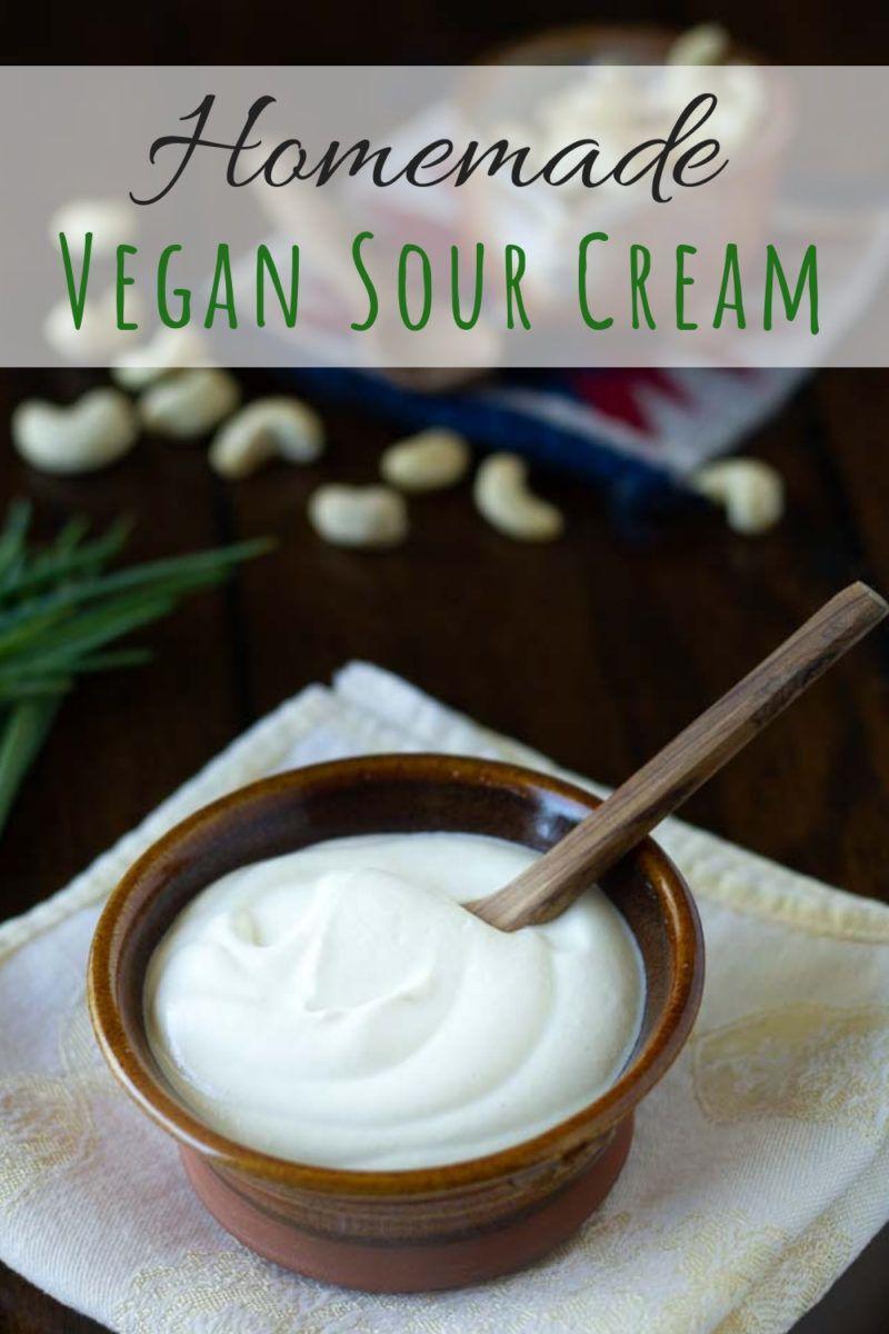 Vegane Saure Sahne selber machen #dairyfree