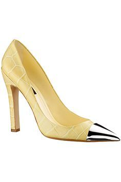 pale yellow shoes by Louis Vuitton - 2012 Spring-Summer