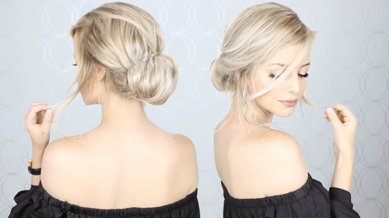 Super Simple Updo | Perfect for Long, Medium, AND Short hair | Easy ...