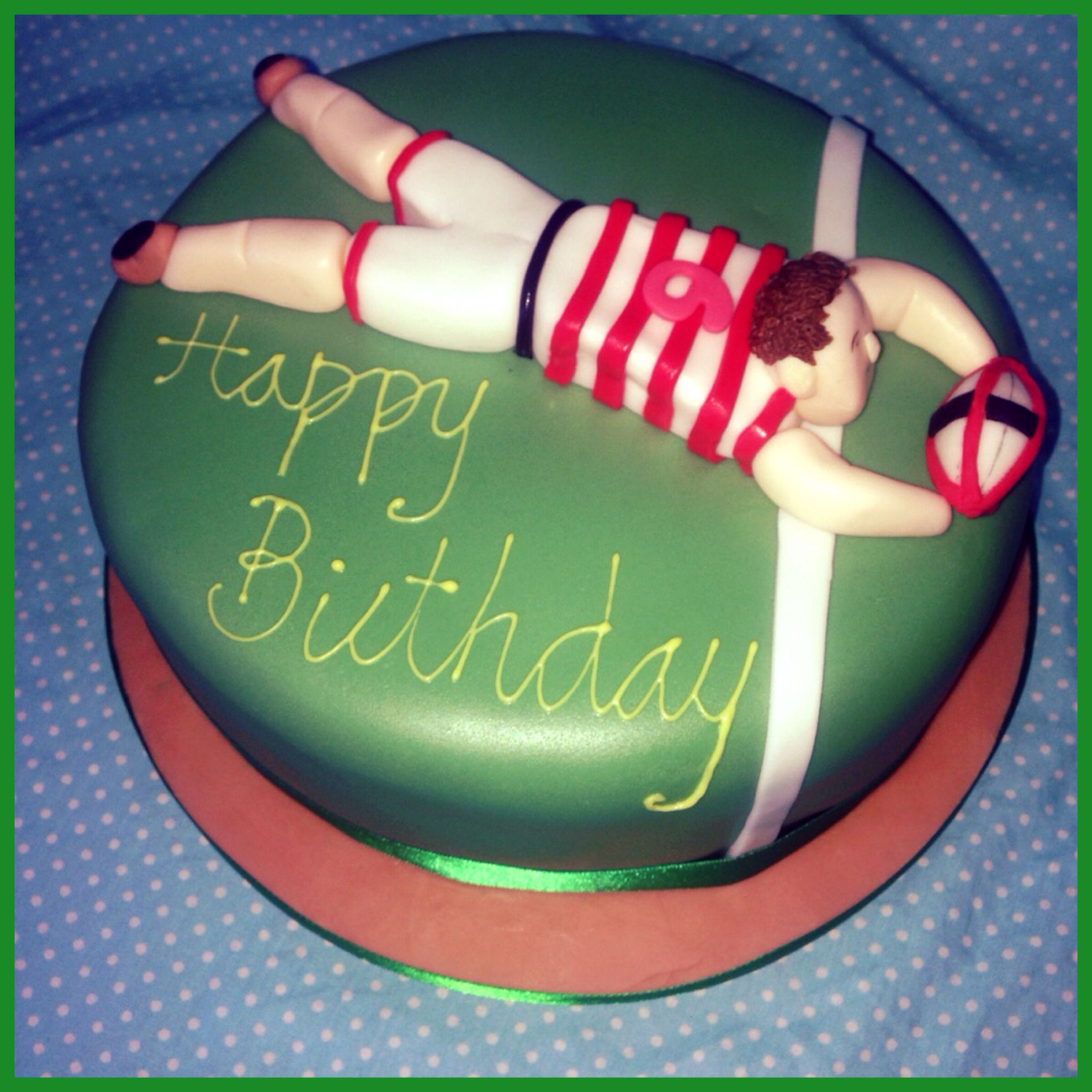 #rugby #cake