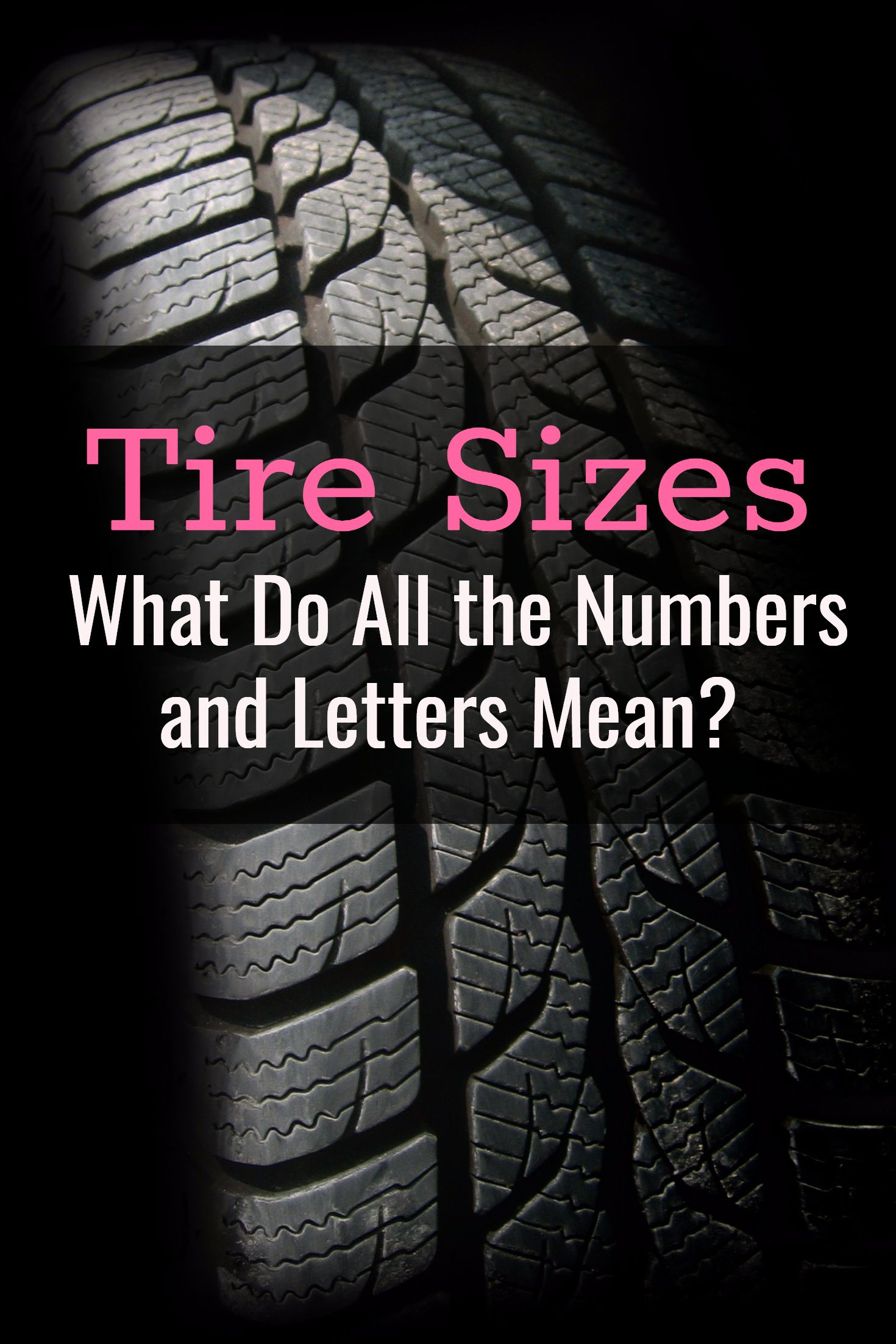 Tire Sizes What Do All The Numbers And Letters Mean