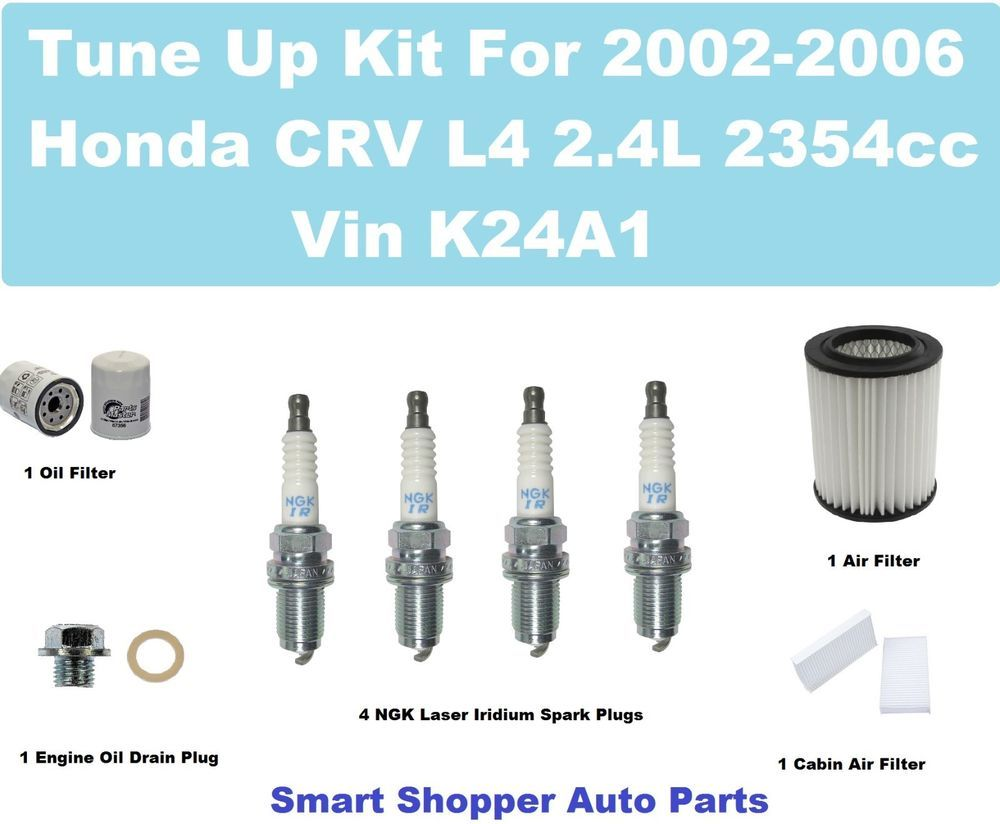 Tune Up Kit For 2002 2006 Honda Crv Spark Plug Oil Filter Cabin Pt Cruiser Fuel Dr Aftermarketproducts
