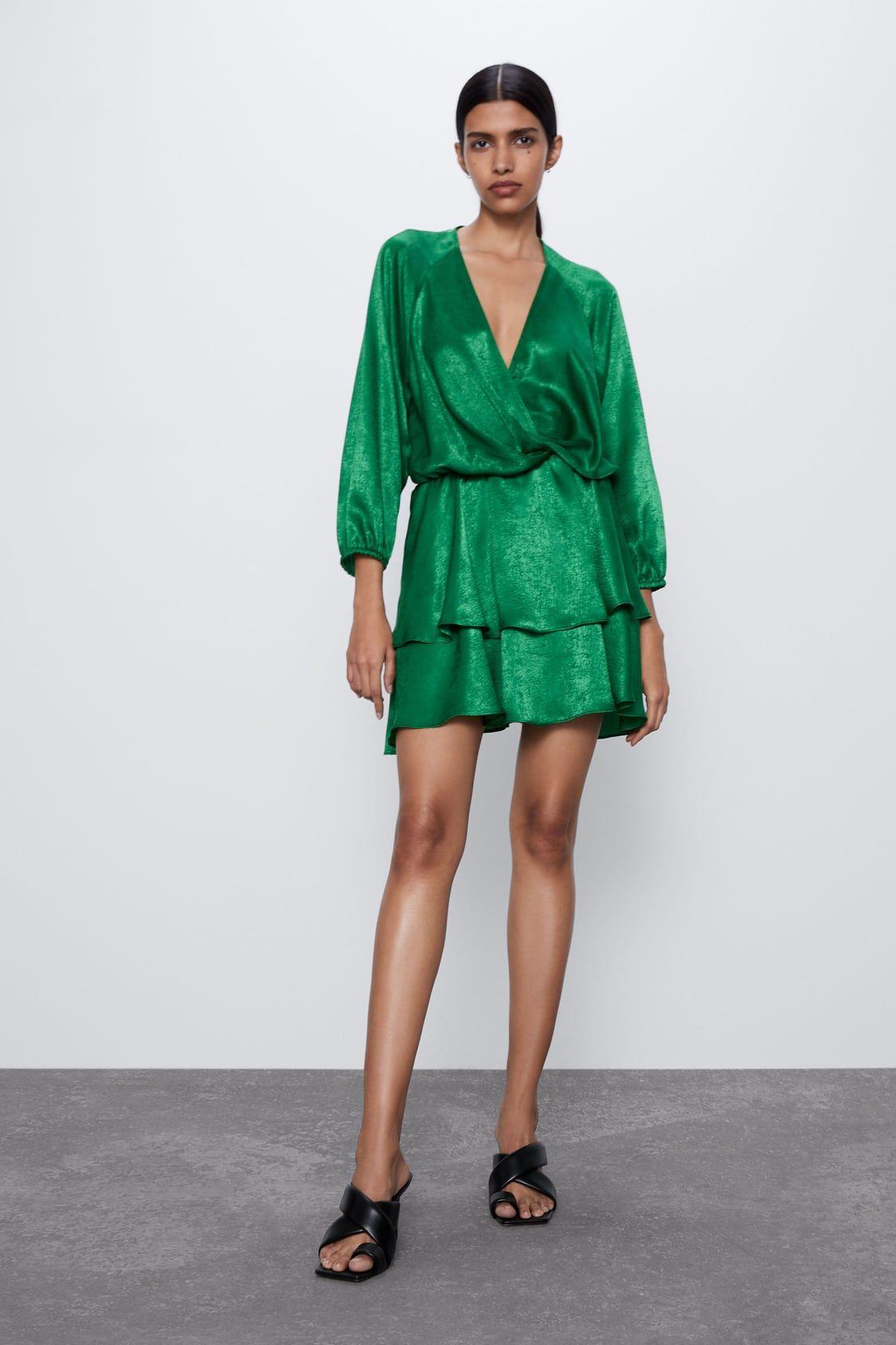 VESTIDO MINI SATINADO in 10  Minikleid, Kleider, Kleider für frauen