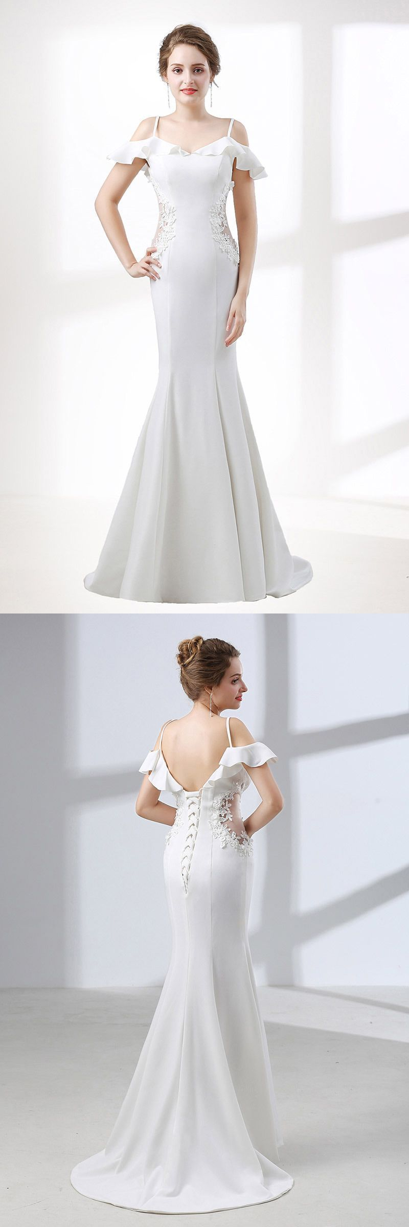 Only 129, Mermaid Wedding Dresses Trumpet Fitted Corset