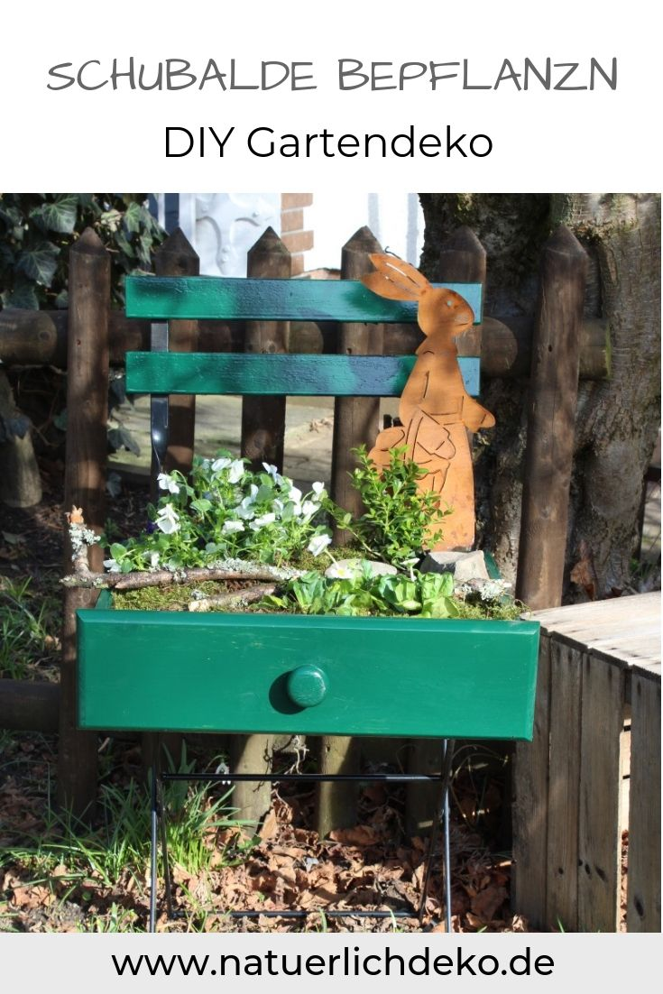 Garten DIY: Schublade bepflanzen