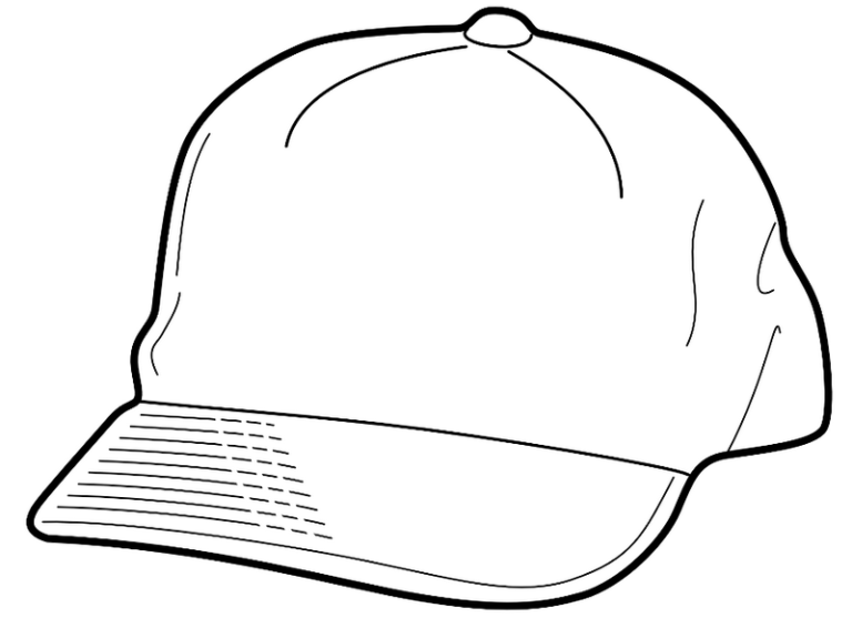 Baseball Hat Coloring Page Coloring Pages For Boys Coloring Pages For Girls Sports Coloring Pages