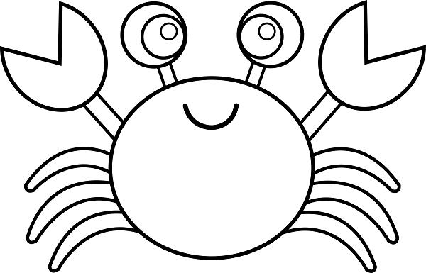 Crab Coloring Pages Ausmalbilder Gratis Animal Coloring Pages Cartoon Coloring Pages Fish Coloring Page