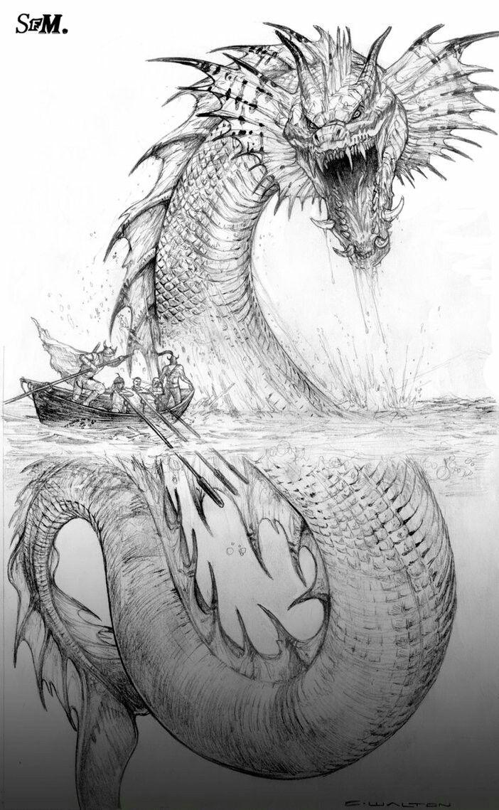 Jeu : Bizantium and Northern Islands / Palladium Fantasy Jormund Serpent by ChuckWalton  / http://chuckwalton.deviantart.com/art/Palladium-Fantasy-Jormund-Serpent-524996649
