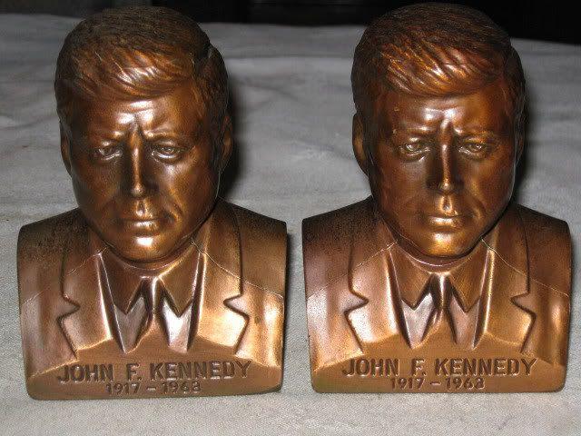 john kennedy bronze statue used to be on the bookshelf upstairs