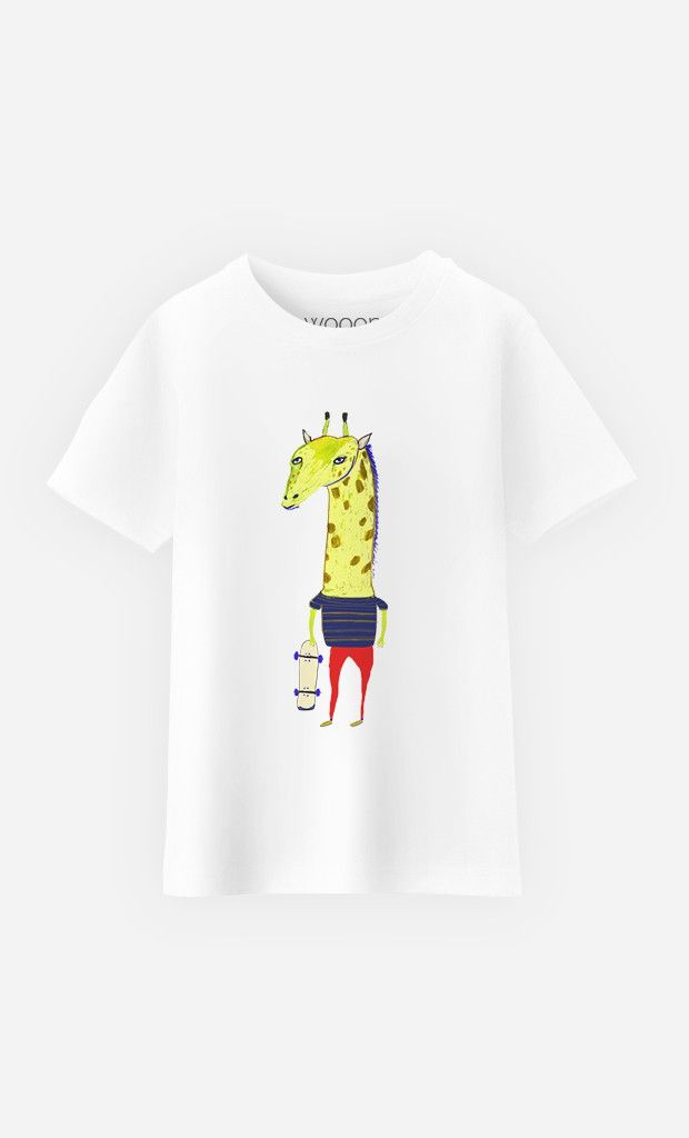 T-Shirt Enfant Giraffe Dude par Ashley Percival - Wooop.fr