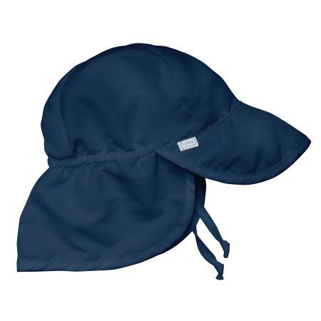654491d45c7 i play. Flap Sun Protection Hat-Navy-2T 4T