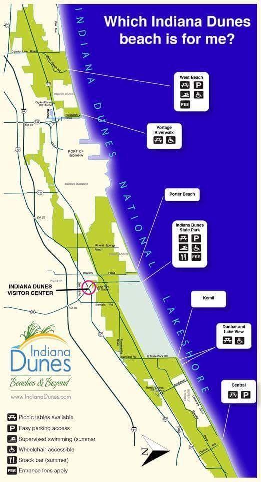 Indiana beach map   Misc.   Pinterest   Beach, Vacation ideas and ...