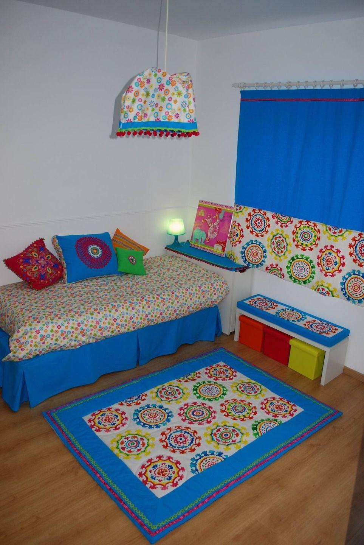 Housse de couette fleurs multicolore chambre fille sur commande ...