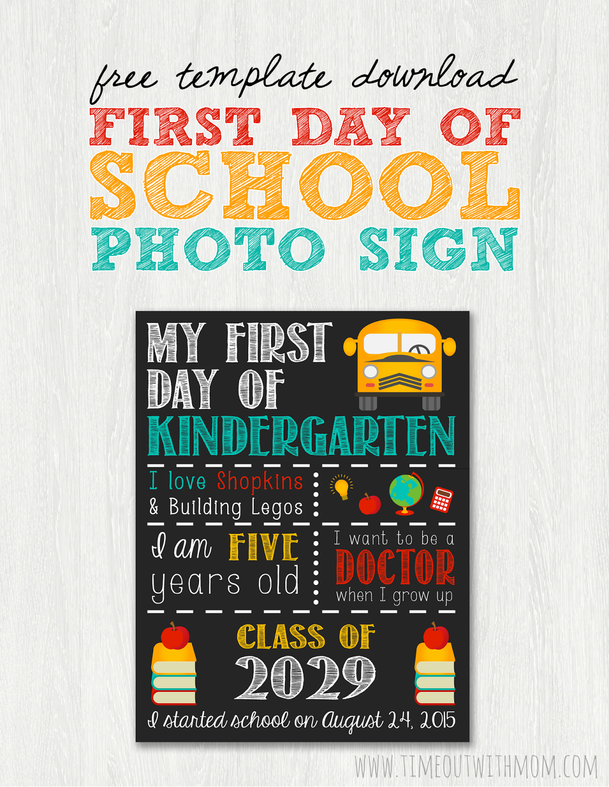 picture about Free Printable Templates for 1st Day of School Signs for Boys named 15 Again toward College or university Printables True Back again in direction of University Entertaining
