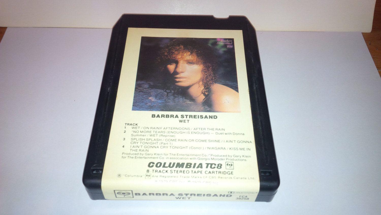 Vintage 8 Track Cassette Tape : Barbra Streisand - Wet FCA-36258