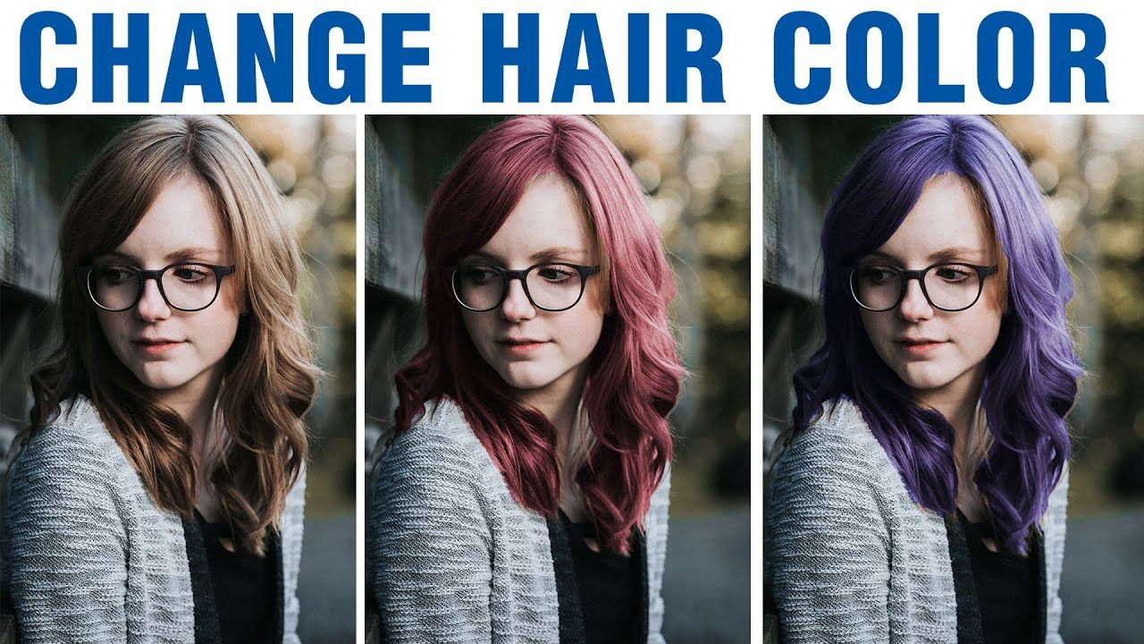 How To Change Hair Color In Photoshop Cc Cs6 Photoshop Tutorial In 2020