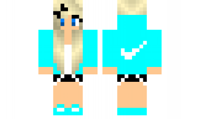 Minecraft Skin CoolGirl Check Out Our YouTube Httpswwwyoutube - Skins para minecraft pe nike