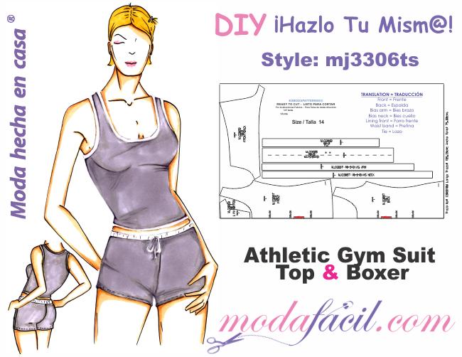 Descarga gratis los moldes de conjunto deportivo de Top y Short ...