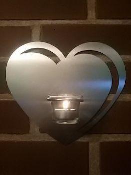 deko ideen edelstahlherz mit teelicht glashalter laserzuschn. Black Bedroom Furniture Sets. Home Design Ideas