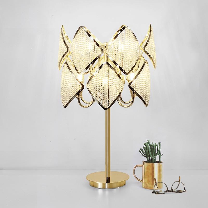 2018 Modern Simple Design G9 Holder Bedroom Crystal Chandelier Table Lamp Simig In 2020 Chandelier Table Lamp Crystal Chandelier Bedroom Table Lamps For Bedroom