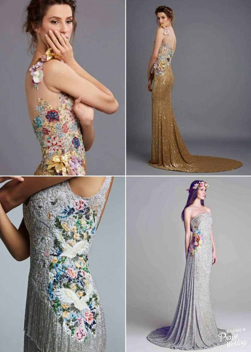 Stunning embroideries on silver and gold!  These Hamda Al Fahim gowns are downright droolworthy!