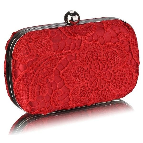 Red Evening Bags (1,125 PHP) ❤ liked on Polyvore featuring bags, handbags, evening bags, red bag, red handbags, evening hand bags and red purse