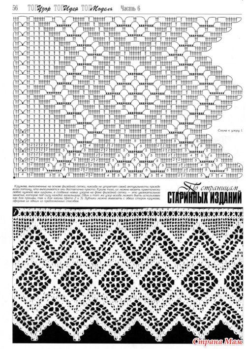 страна мам вязание крючком филейное вязание