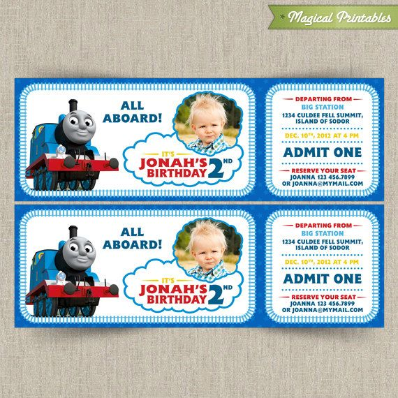 This listing is for a customizable design only and includes an thomas the train customizable printable party invitation with photo filmwisefo