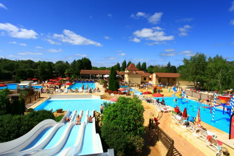 Swimming pool and waterslides at Yelloh! Village le Ranolien, Perros