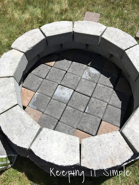 awesome Diy Fire Pit Pinterest Part - 13: Over the weekend my husband and I decided to build a fire pit in our back  yard. We have been .