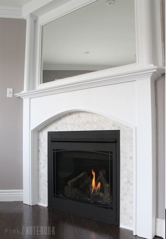 Tile Fireplace Mantels how to update a dated tile fireplace and mirrored mantel -- such a