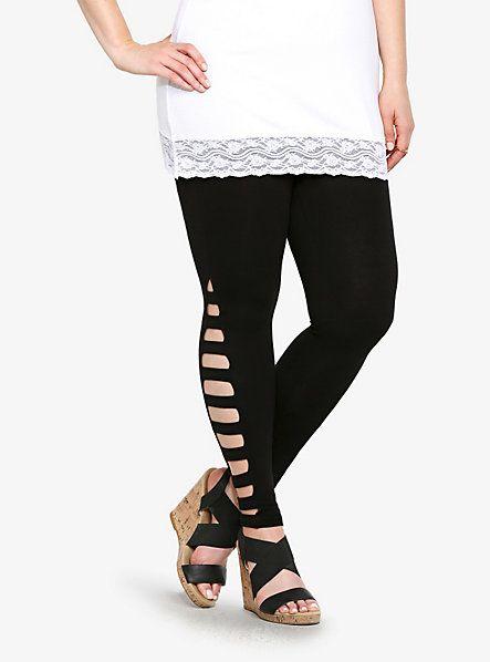 b0b5e8e51fcbd6 Ladder Cutout Leggings | Torrid | Clothes | Fashion, Cut out ...