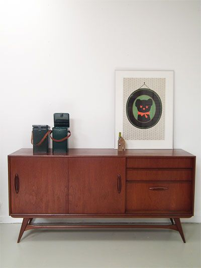 Vintage Dressoir Van Teak Fineer Decoration Pinterest