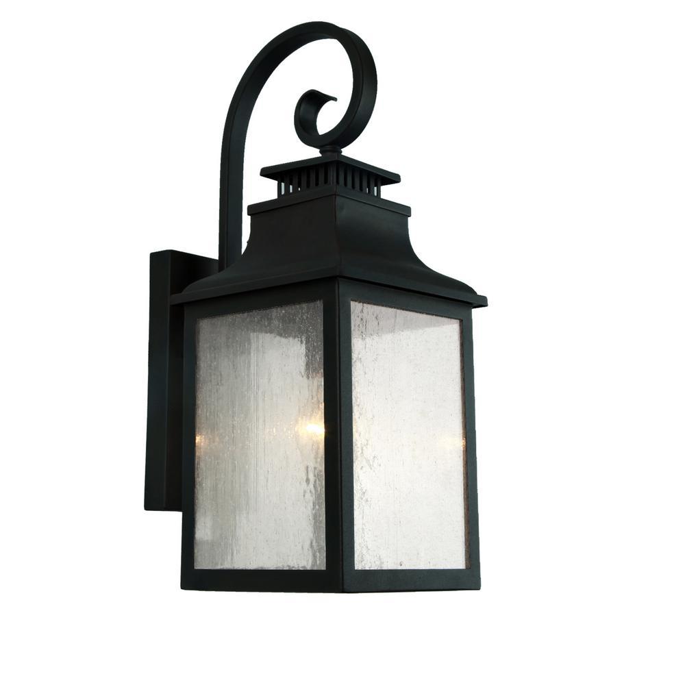 Morgan 4 Light Imperial Black Outdoor Wall Lantern Sconce El2285ib