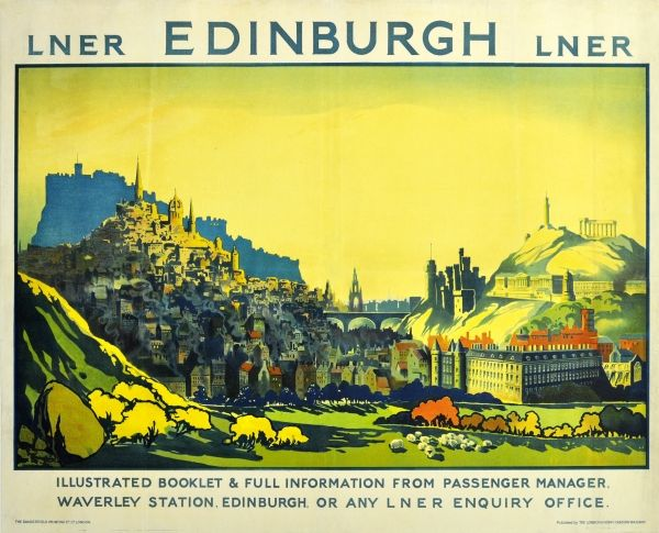 Vintage LNER Bamburgh Railway Poster  A3//A2//A1 Print