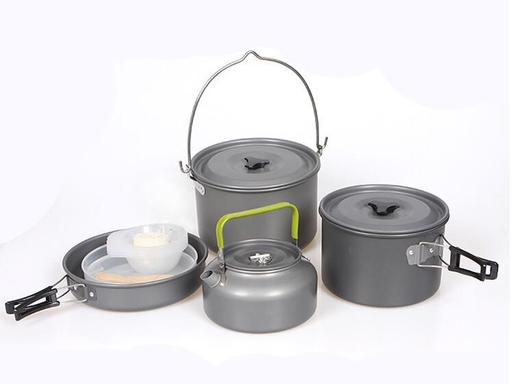 Portable Outdoor Picnic Hiking Camping Cookware Cooking Hanging Pot Pan Set