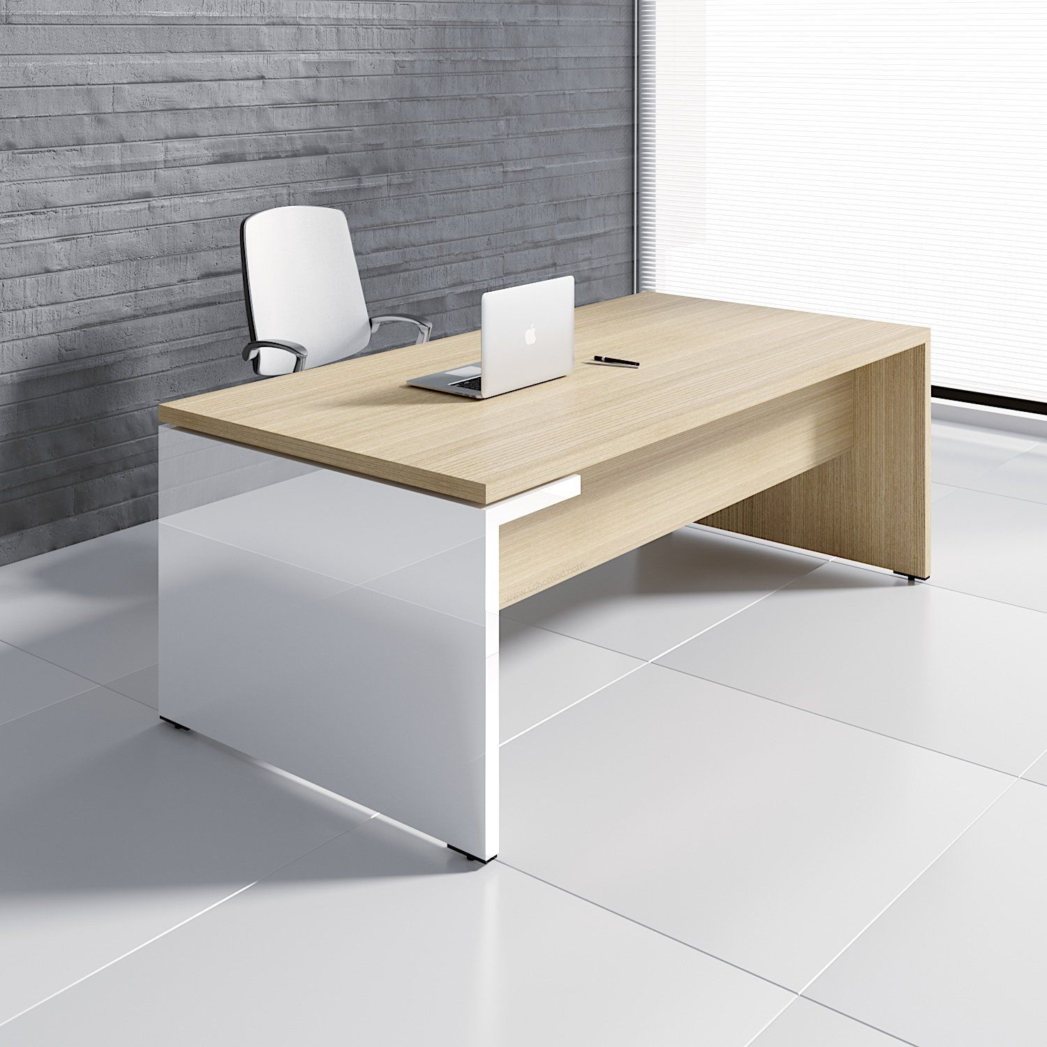 Mito Executive Desk W Hpl Side Panel Office Furniture Design Office Table Design Home Office Design